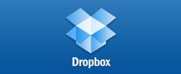 Dropbox splash screen from iPad