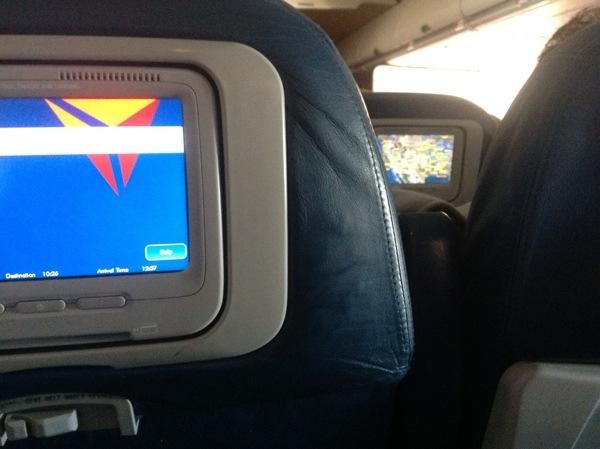 Delta in-flight screens