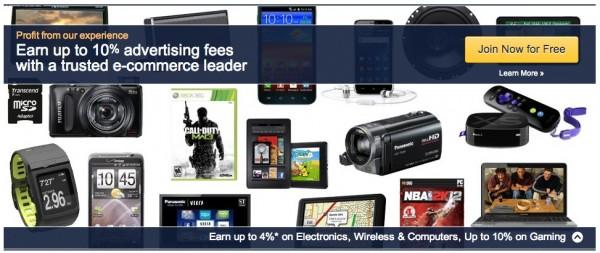 Amazon associates affiliate page