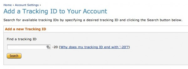 Add Amazon Tracking IDs