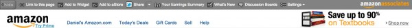 Amazon associates toolbar
