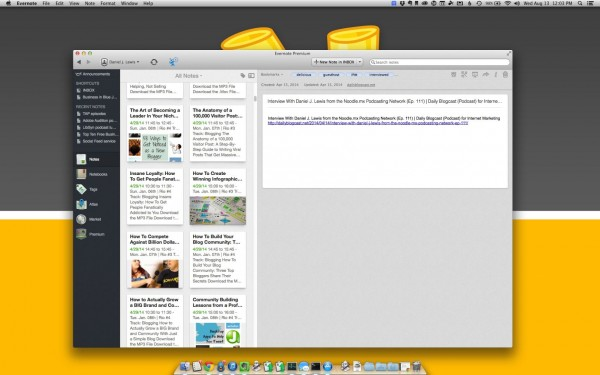 Evernote Desktop App on Mac