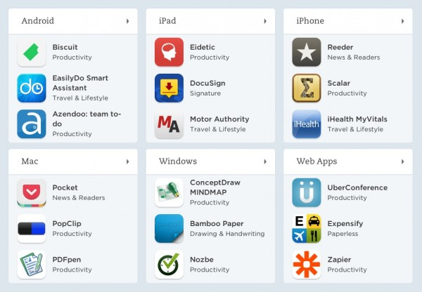 Evernote integrations and apps
